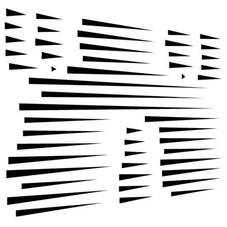 dynamisches Muster mit gestrichelten, segmentierten Linien. unregelmäßige Streifen. gerade parallele Streifen, Streifendesign. Brocken, Stücke, Bruchteile von Zeilen Vektorgrafik