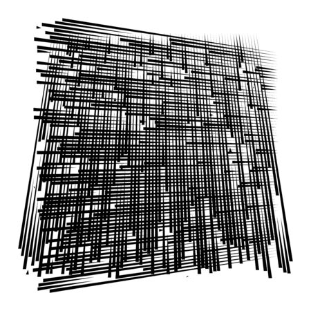 grid, mesh abstract geometric pattern. segmented intersect lines. crossing dynamic stripes texture. random dashed streaks lattice. abstract grating, trellis design