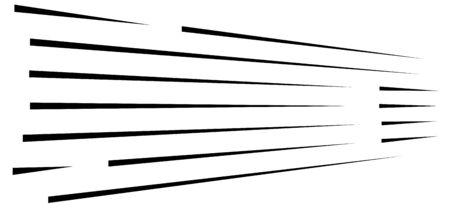 dynamic burst lines. comic action, speed lines. 3d horizontal parallel strips. straight streaks vanishing, diminishing. 3d lines illustration