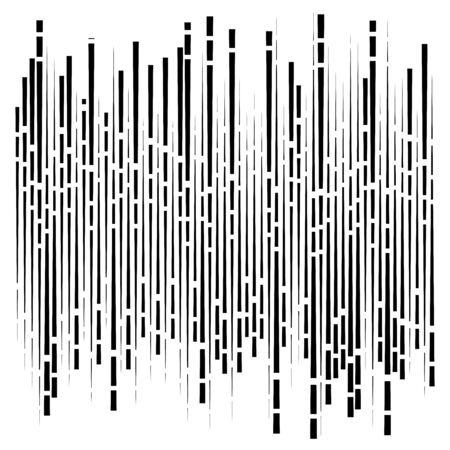 random segmented lines pattern. dynamic dashed, irregular stripes. abstract geometric design  イラスト・ベクター素材