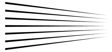 3d lines. Straight parallel stripes in perspective. Strips, streaks vanish, diminish. Horizon oblique, diagonal lines