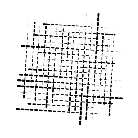 abstract grid, mesh of random scatter chunks, pieces. geometric abstract illustration. geometric matrix, array pattern 向量圖像
