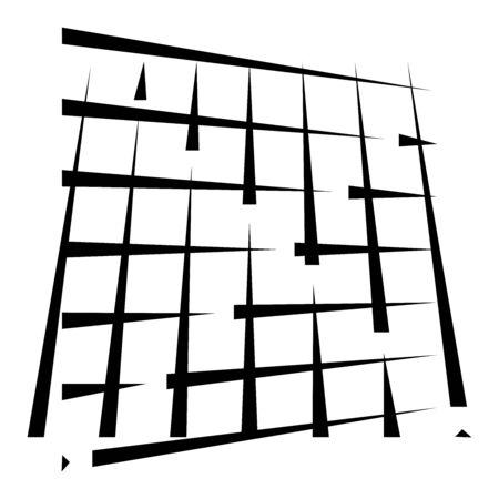 grid, mesh abstract geometric pattern. segmented intersect lines. crossing dynamic stripes texture. random dashed streaks lattice. abstract grating, trellis design Stock fotó - 131304502