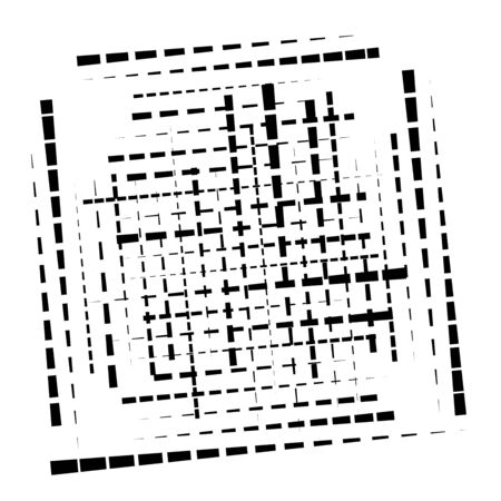 abstract grid, mesh of random scatter chunks, pieces. geometric abstract illustration. geometric matrix, array pattern