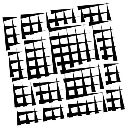 grid, mesh abstract geometric pattern. segmented intersect lines. crossing dynamic stripes texture. random dashed streaks lattice. abstract grating, trellis design Stock fotó - 131303834