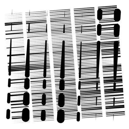 random grid, mesh pattern. grating, trellis texture. intermittent, interrupt lines lattice. intersecting segmented stripes. dashed crossing streaks design. abstract geometric illustration Stock fotó - 131313033