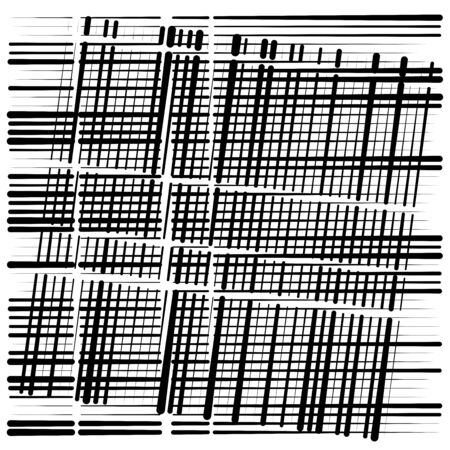 random grid, mesh pattern. grating, trellis texture. intermittent, interrupt lines lattice. intersecting segmented stripes. dashed crossing streaks design. abstract geometric illustration Stock fotó - 131312685