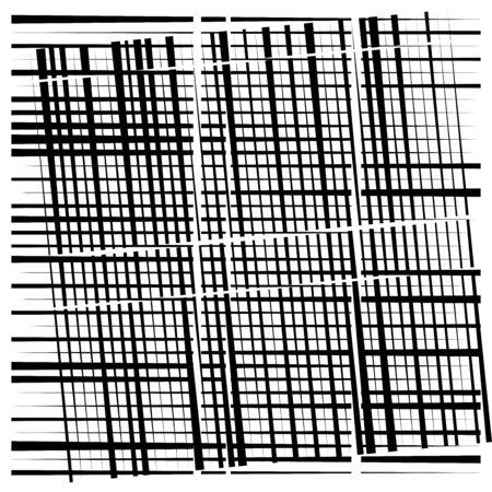 random grid, mesh pattern. grating, trellis texture. intermittent, interrupt lines lattice. intersecting segmented stripes. dashed crossing streaks design. abstract geometric illustration