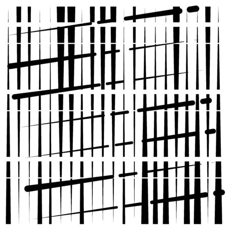 random grid, mesh pattern. grating, trellis texture. intermittent, interrupt lines lattice. intersecting segmented stripes. dashed crossing streaks design. abstract geometric illustration Stock fotó - 131313544