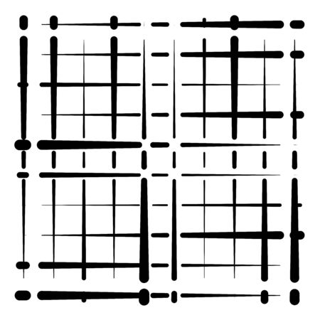 grid, mesh abstract geometric pattern. grating, trellis texture with intermittent, interrupt lines. segmented intersect stripes. dashed streaks lattice design