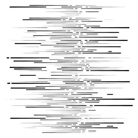dashed irregular lines. segment horizontal stripes  lines. straight parallel streaks, strips, lines, stripes pattern  design element. chunks, pieces, shred, fraction, segments of lines. segmented li