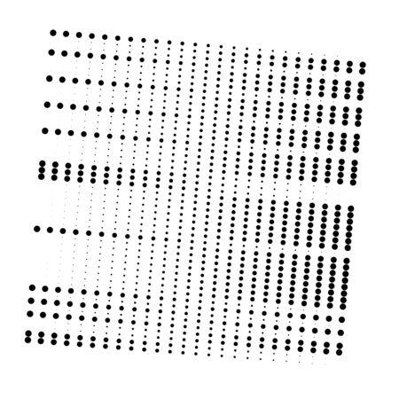 Dots, half-tone element. speckle, stipple geometric pattern. circles halftone pattern. polka dots, screntone design element. Ilustração Vetorial