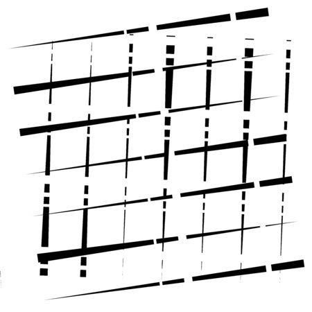 random grid, mesh pattern. grating, trellis texture. intermittent, interrupt lines lattice. intersecting segmented stripes. dashed crossing streaks design. abstract geometric illustration Stock fotó - 131313797