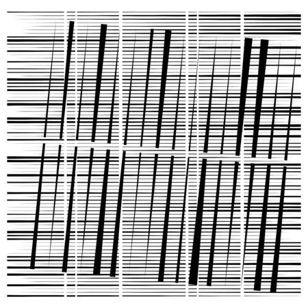 random grid, mesh pattern. grating, trellis texture. intermittent, interrupt lines lattice. intersecting segmented stripes. dashed crossing streaks design. abstract geometric illustration Stock fotó - 131313499