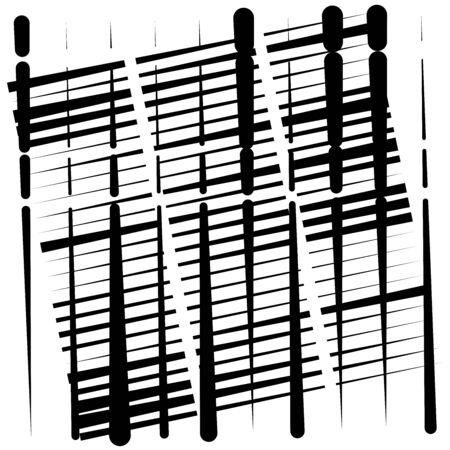 random grid, mesh pattern. grating, trellis texture. intermittent, interrupt lines lattice. intersecting segmented stripes. dashed crossing streaks design. abstract geometric illustration Stock fotó - 131320914