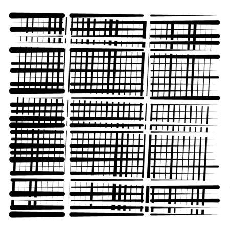 random grid, mesh pattern. grating, trellis texture. intermittent, interrupt lines lattice. intersecting segmented stripes. dashed crossing streaks design. abstract geometric illustration Stock fotó - 131321407