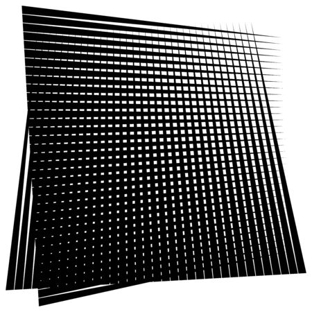 Grid, mesh element. cellular, reticular grate, lattice. array of bisect, overlap lines, stripes. geometric monochrome, black and white element, pattern. Intersect straight, parallel lines, stripes Vectores