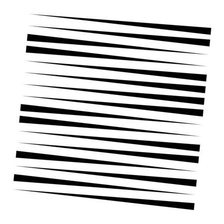 Random lines element. Random horizontal lines. Irregular straight, parallel stripes. Strips, streaks half-tone geometric pattern