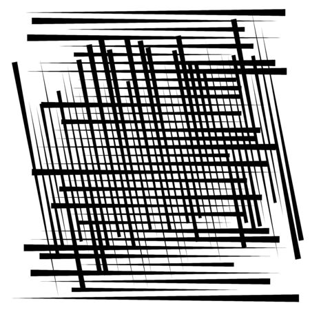 Random lines grid, mesh. Dynamic, irregular overlap, intersect lines, stripes. Jumble, reticulate geometric element. random lines grate, lattice