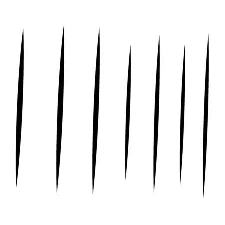 dynamic vertical parallel lines, stripes pattern. straight streaks, strips element. linear, lineal pattern. line half-tone element