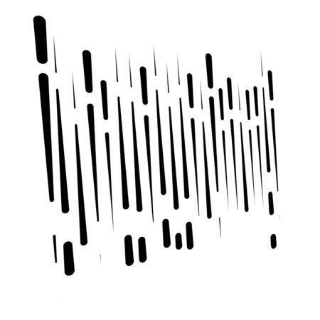 lignes dynamiques en pointillés, motif à rayures. conception de stries intermittentes aléatoires et irrégulières. interrompre la texture des rayures parallèles verticales et droites