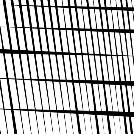 random tilt, oblique grid, mesh pattern. dynamic slanting intersect lines. abstract grate design. trellis, lattice geometric texture with irregular streaks, stripes