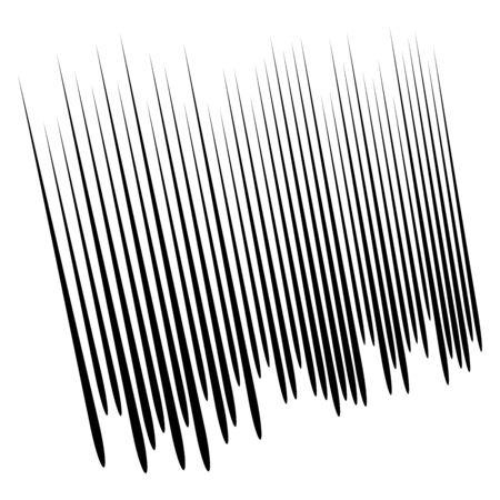 Dynamic comic burst lines. Vertical random straight stripes. Irregular streaks, strips design. Abstract geometric pattern