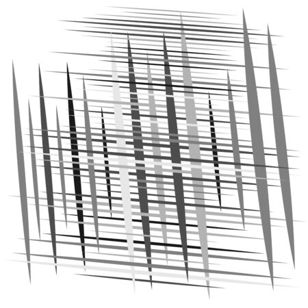 random tilt, oblique grid, mesh pattern. dynamic slanting intersect lines. abstract grate design. trellis, lattice geometric texture with irregular streaks, stripes
