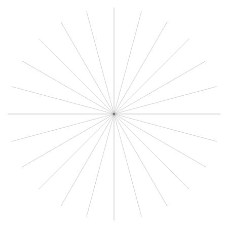 Radial burst lines circular element. Starburst, sunburst graphics. Concentric rays, beams. Sparkle, gleam, twinkle trail lines. Flare, explosion, fireworks radiance effect. Flash, glare design