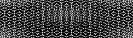 Skew, diagonal, oblique lines grid, mesh.Cellular, interlace background. Interlock, intersect traverse fractal lines.Dynamic bisect stripes abstract geometric pattern.Grating, trellis, lattice texture Stock Illustratie
