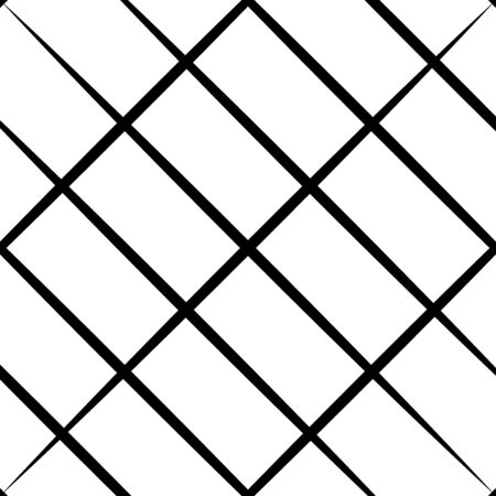 Skew, diagonal, oblique lines grid, mesh.Cellular, interlace background. Interlock, intersect traverse fractal lines.Dynamic bisect stripes abstract geometric pattern.Grating, trellis, lattice texture  イラスト・ベクター素材