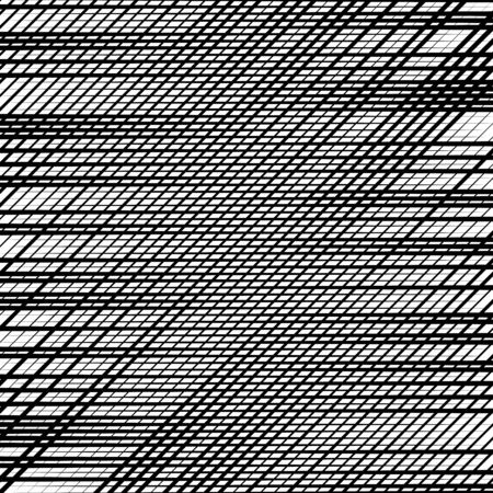 Skew, diagonal, oblique lines grid, mesh.Cellular, interlace background. Interlock, intersect traverse fractal lines.Dynamic bisect stripes abstract geometric pattern.Grating, trellis, lattice texture Illustration