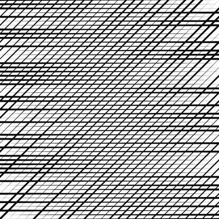 Skew, diagonal, oblique lines grid, mesh.Cellular, interlace background. Interlock, intersect traverse fractal lines.Dynamic bisect stripes abstract geometric pattern.Grating, trellis, lattice texture Illustration