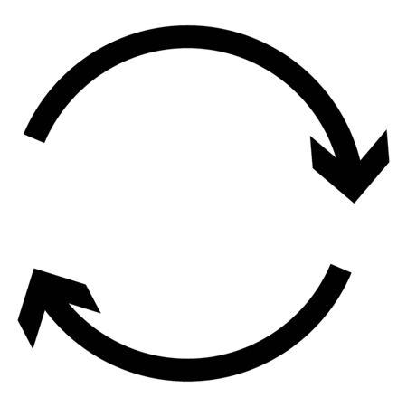 Circular, circle arrow right. Radial arrow icon, symbol. Clockwise rotate, twirl, twist concept element. Spin, vortex pointer. Whirlpool, loop cursor shape