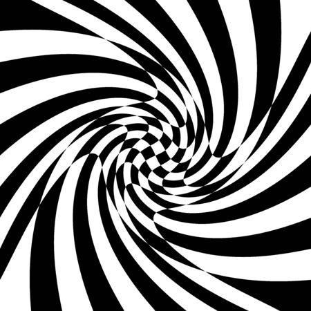 torsion, rotary deform.gyration, revolve element.tweak converging checker, chequered pattern  background. centrifuge, spin whirligig.vortex, whirl, swirl whirlpool background.vertigo, hypnosis op-art Иллюстрация