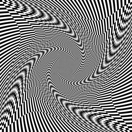 torsion, rotary deform.gyration, revolve element.tweak converging checker, chequered pattern  background. centrifuge, spin whirligig.vortex, whirl, swirl whirlpool background.vertigo, hypnosis op-art Illustration