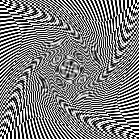 torsion, rotary deform.gyration, revolve element.tweak converging checker, chequered pattern / background. centrifuge, spin whirligig.vortex, whirl, swirl whirlpool background.vertigo, hypnosis op-art Stock Vector - 131523535