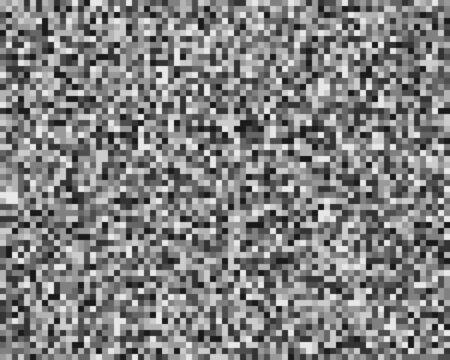 cuadrados pixelados, bloque de píxeles patrón de mosaico aleatorio / fondo. rejilla de fusión a cuadros, malla. aleatoria, dispersión difusa cuadrados. matriz de desorden. textura de revoltijo geométrico. arte vectorial de fragmentación