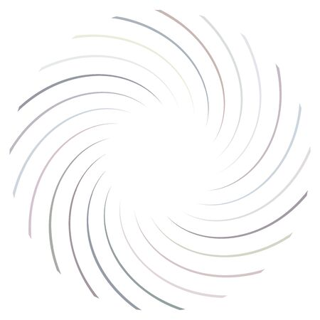 Abstract spiral, twist. Radial swirl, twirl curvy, wavy lines element. Circular, concentric loop pattern. Revolve, whirl design. Whirlwind, whirlpool illustration  イラスト・ベクター素材