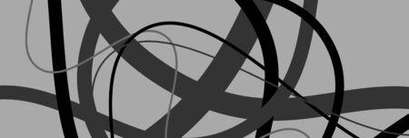 Ondulato casuale, linee a zig-zag trama di arte astratta, sfondo. Composizione caotica di forme sinuose, intricate che si intersecano, sovrapposte. Motivo del caos con elementi sparsi