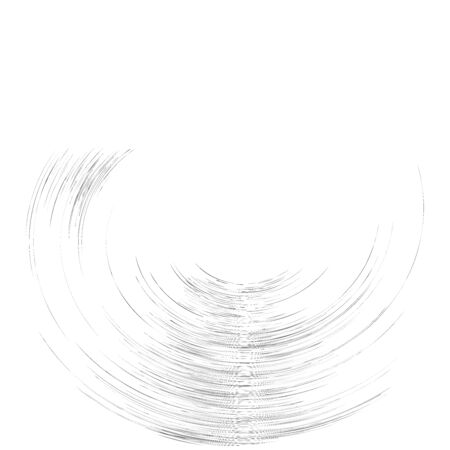 Detailed twirl, spiral element. Whirlpool, whirligig effect. Circular, rotating burst lines. Whirl radial spokes. Coil, twirl abstract shape Ilustrace