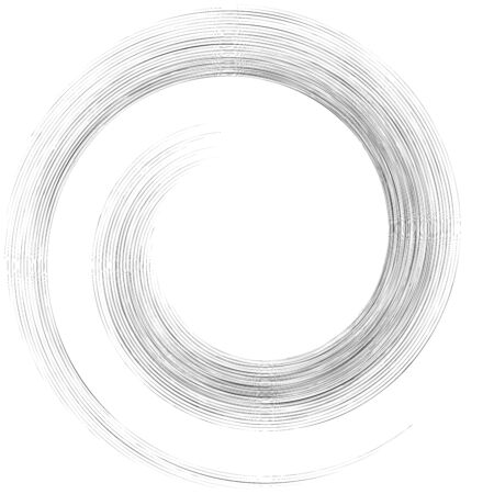 Detailed twirl, spiral element. Whirlpool, whirligig effect. Circular, rotating burst lines. Whirl radial spokes. Coil, twirl abstract shape Reklamní fotografie - 137542923
