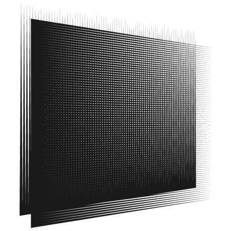 Grid, mesh pattern. Cellular, reticulated grate, lattice. Array of bisect, overlap lines. Intersect straight, parallel stripes. geometric black and white, monochrome design element