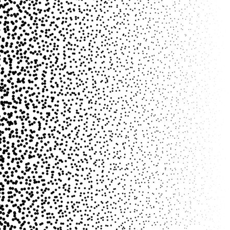 Random dots, random circles pattern, background. Noise halftone. Dispersion, scatter dotted half-tone pointillist design. Noisy particles speckle texture. Abstract geometric circles illustration Vetores