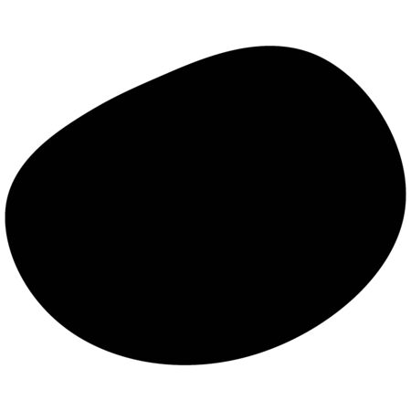 Random blotch, inkblot. Organic blob, blot. Speck shape.Splat, fleck graphic. Drop of liquid, fluid. Pebble, stone silhouette.Ink stain, mottle spot irregular shape. Basic, simple rounded, smooth form