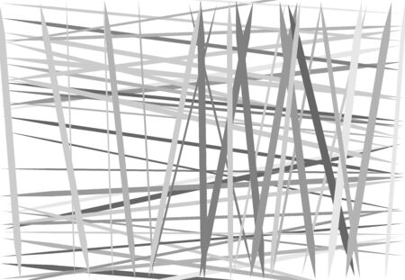 Abstract geometric art with random, chaotic, dynamic lines. Straight crossing, intersecting irregular lines, stripes texture, pattern Ilustração Vetorial