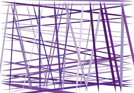Colorful lilac, purple Abstract geometric art with random, chaotic lines. Straight crossing, intersecting lines texture, stripes pattern 向量圖像