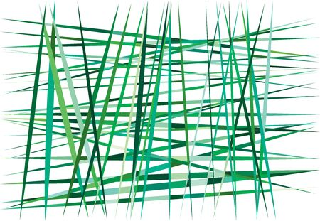 Abstract geometric art with random, chaotic, dynamic lines. Straight crossing, intersecting irregular lines, stripes texture, pattern