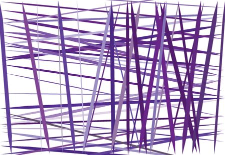 Colorful lilac, purple Abstract geometric art with random, chaotic lines. Straight crossing, intersecting lines texture, stripes pattern