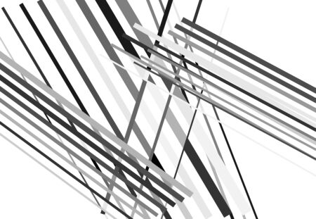 Abstract geometric art with random, chaotic lines. Straight crossing, intersecting lines texture, stripes pattern Çizim